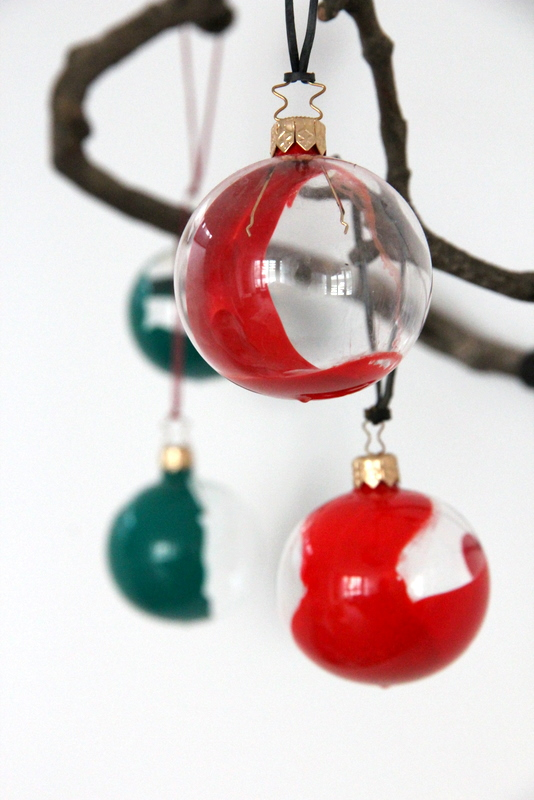 dip-dye Christbaumkugeln DIY