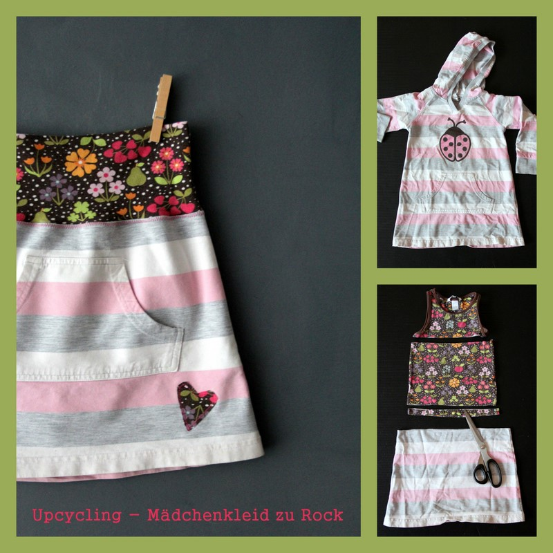 Upcycling Mädchenkleid zu Kinderrock - upcycling children-dress to girls-skirt