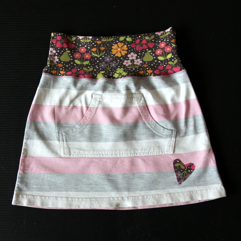 Upcycling fertig - neuer Kinderrock - new kids skirt