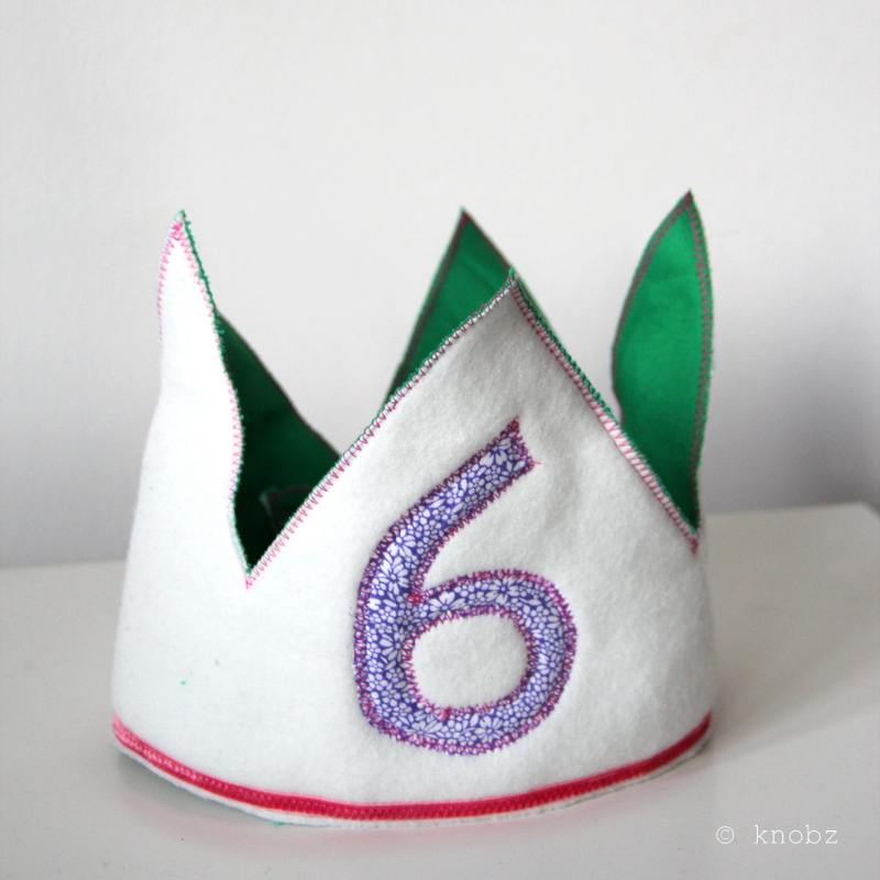 Geburtstagskrone Vorlage - birthday crown pattern