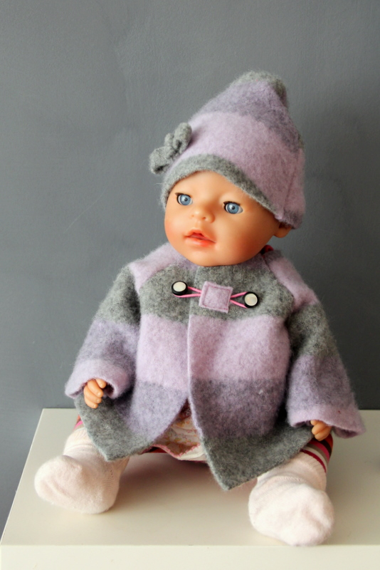 Winterjacke für die Puppe Anleitung - winter coat for dolls tutorial