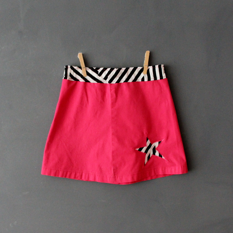 pinker Rock mit Stern - pink skirt with star