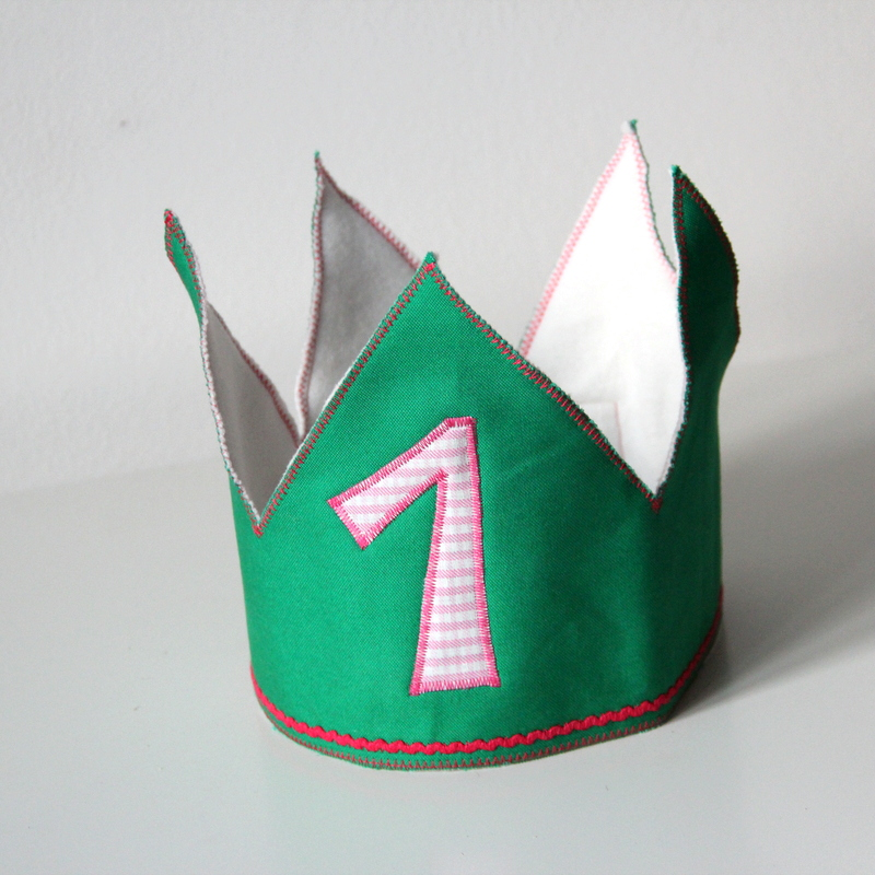 Geburtstagskrone zum 1. Geburtstag birthday crown for first birthday