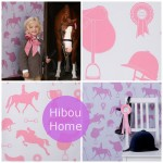Hibou Home_text - Gymkhana sand/coral pink