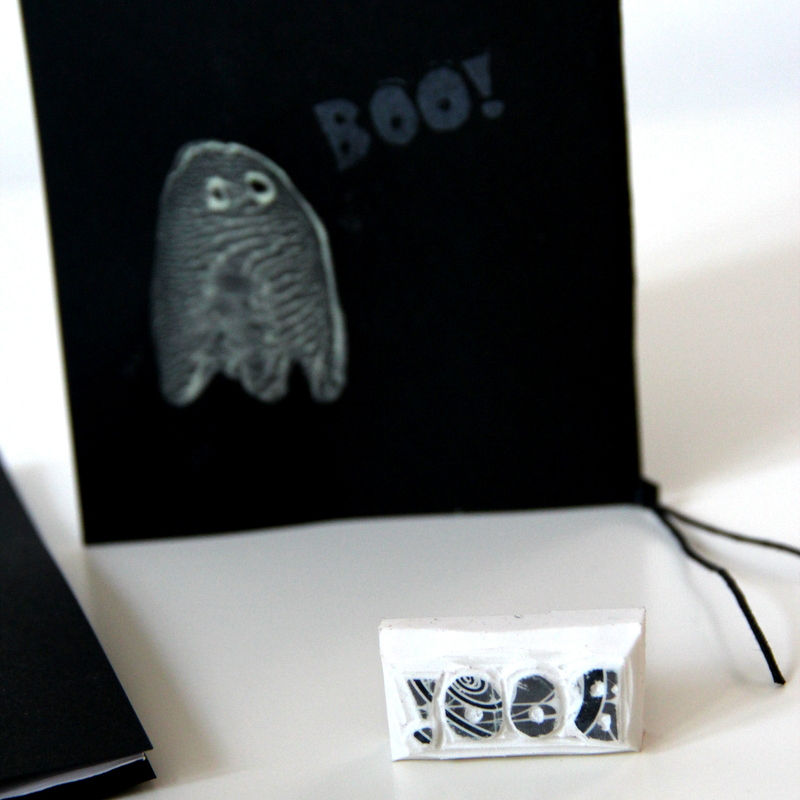 Geisterstempel BOO - ghost stamp