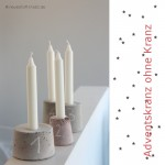 Adventskranz DIY - Adventskerzen aus Beton