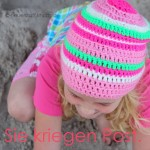 gehkelte Surfermtze - Beanie fr Kinder