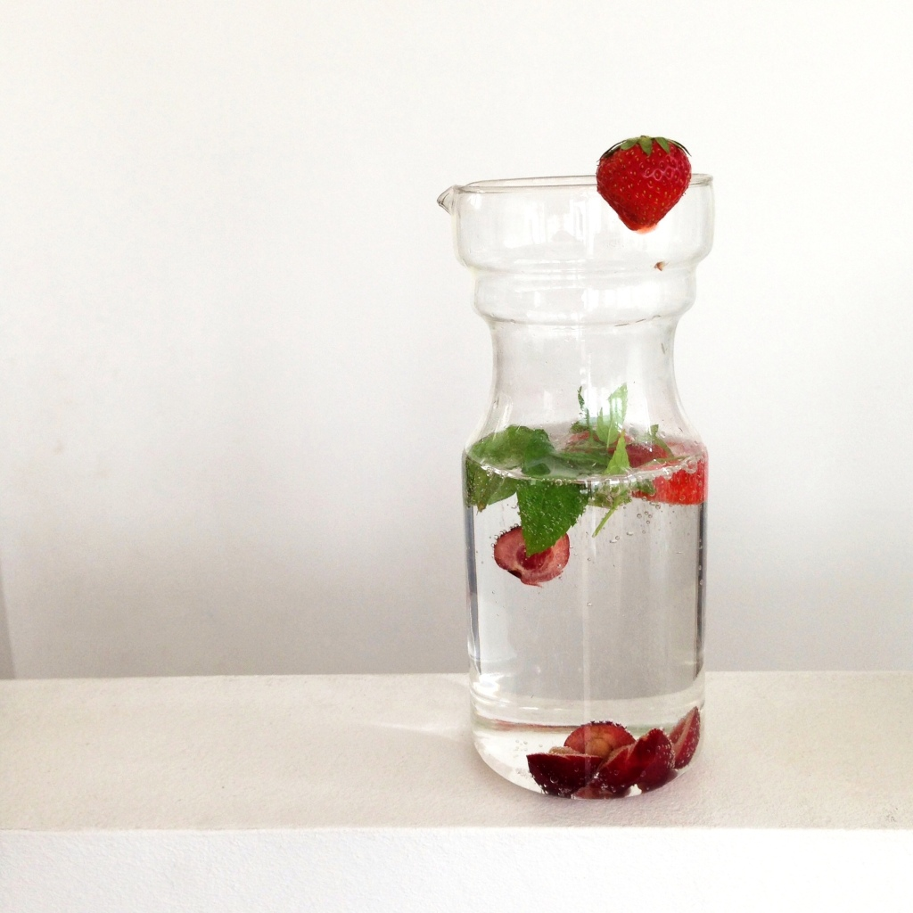 Infused water - strawberry, peppermint, cherry
