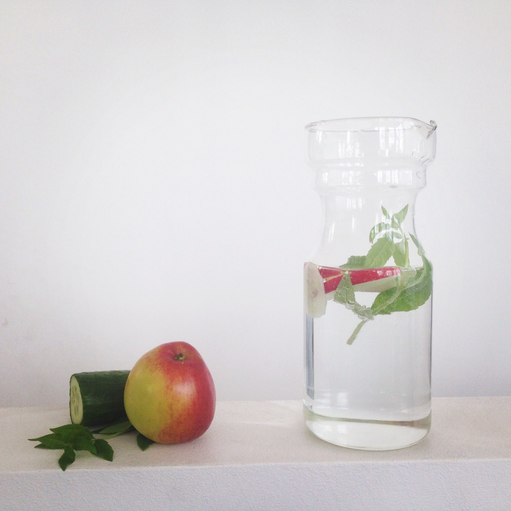 Infused water - peppermint, apple, cucumber
