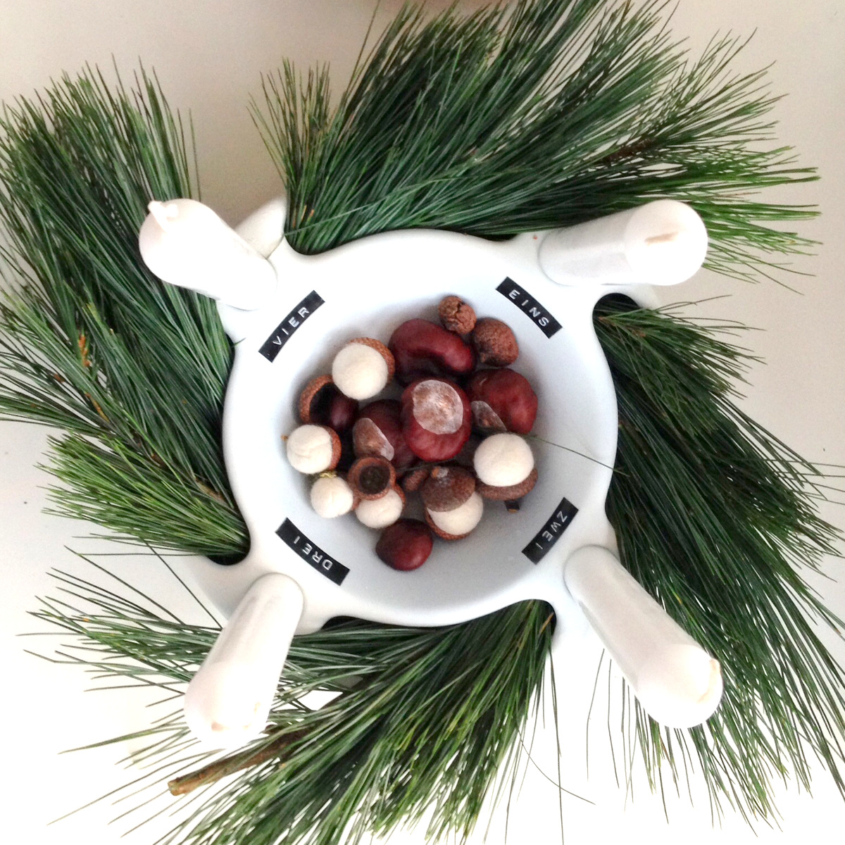 Adventskranz - Upcycling vintage Schale