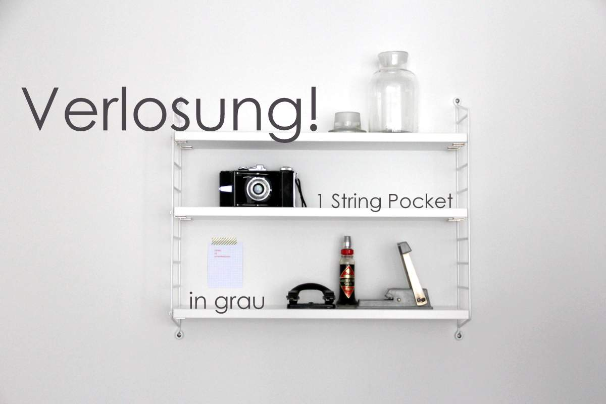 String Pocket Verlosung - Regal fürs Arbeitszimmer