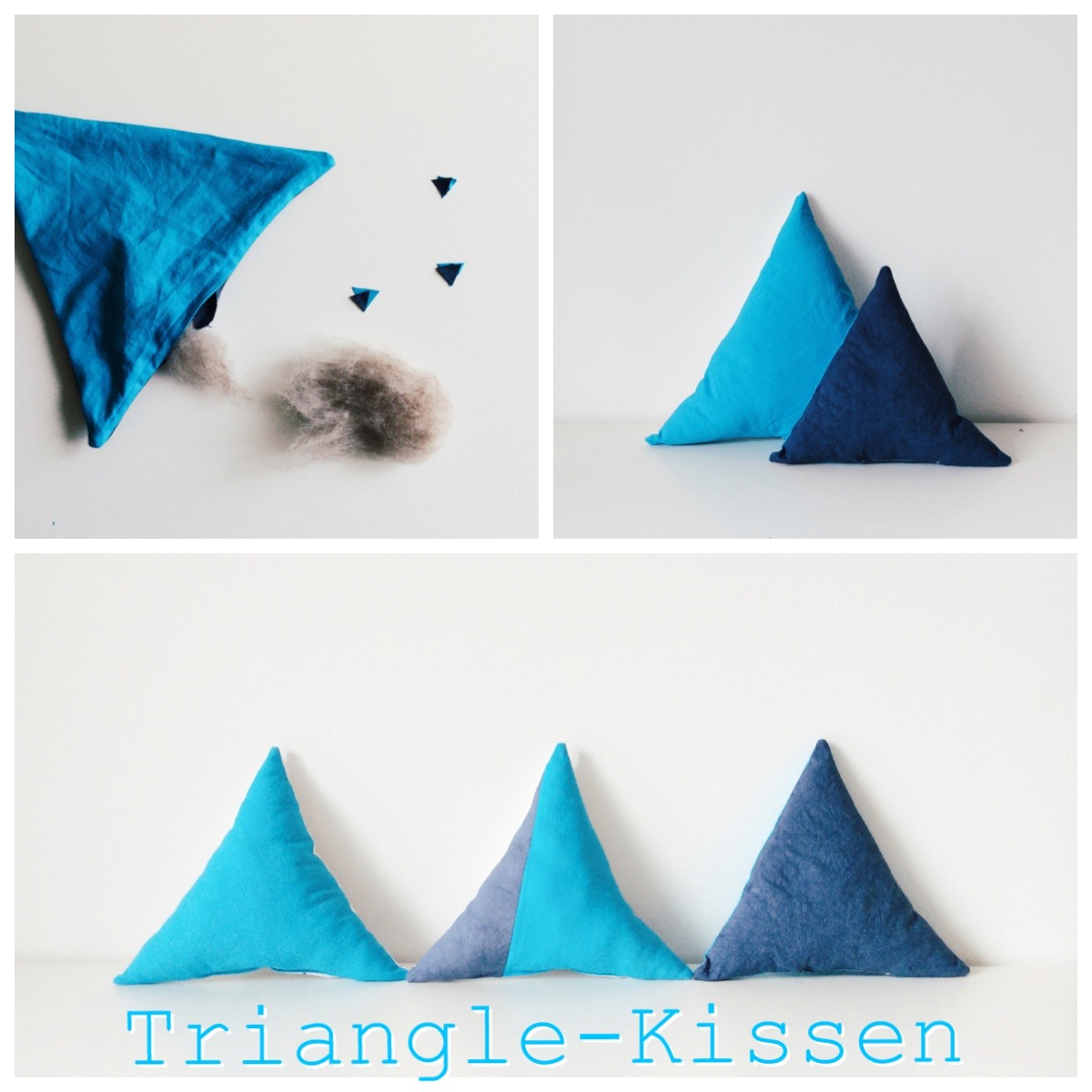 triangle cushion sewing tutorial, Triangelkissen